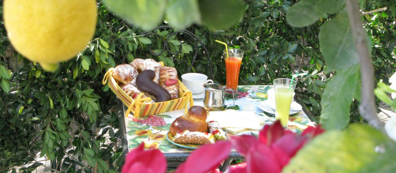BREAKFAST IN GARDEN